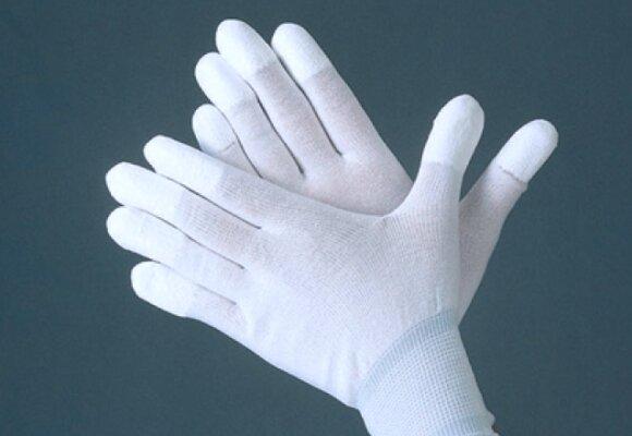 białe rękawiczk