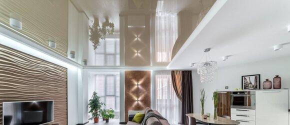 Błyszczące dwupoziomowe sufity napinane, Sufity napinane LED Standard