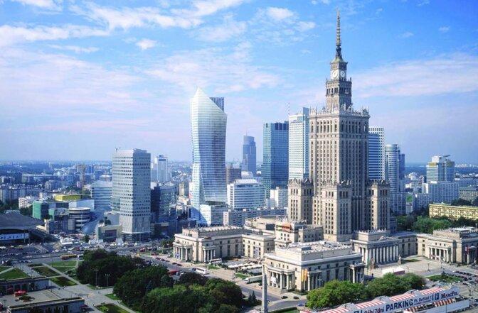 Warszawa - widok na Pałac Kultury